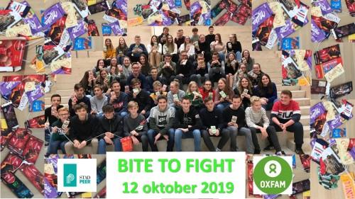 Agnetencollege steunt actie 'BITE TO FIGHT' van Oxfam
