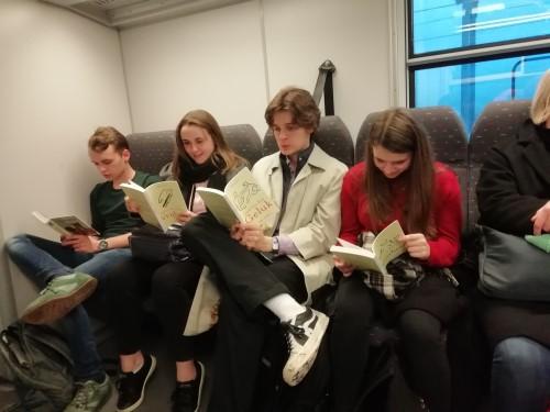 Op de trein naar Leuven